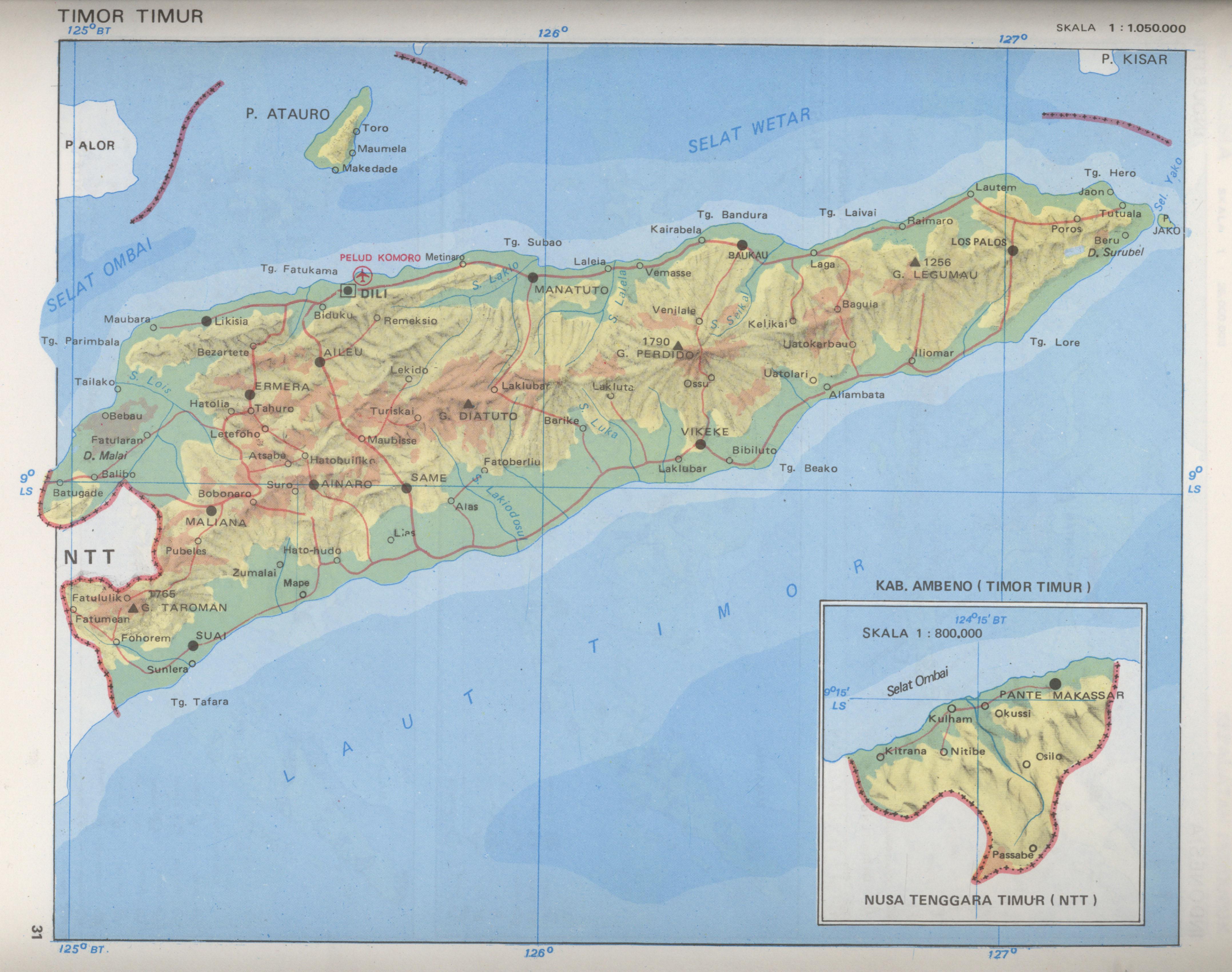 Map of Where East Timor