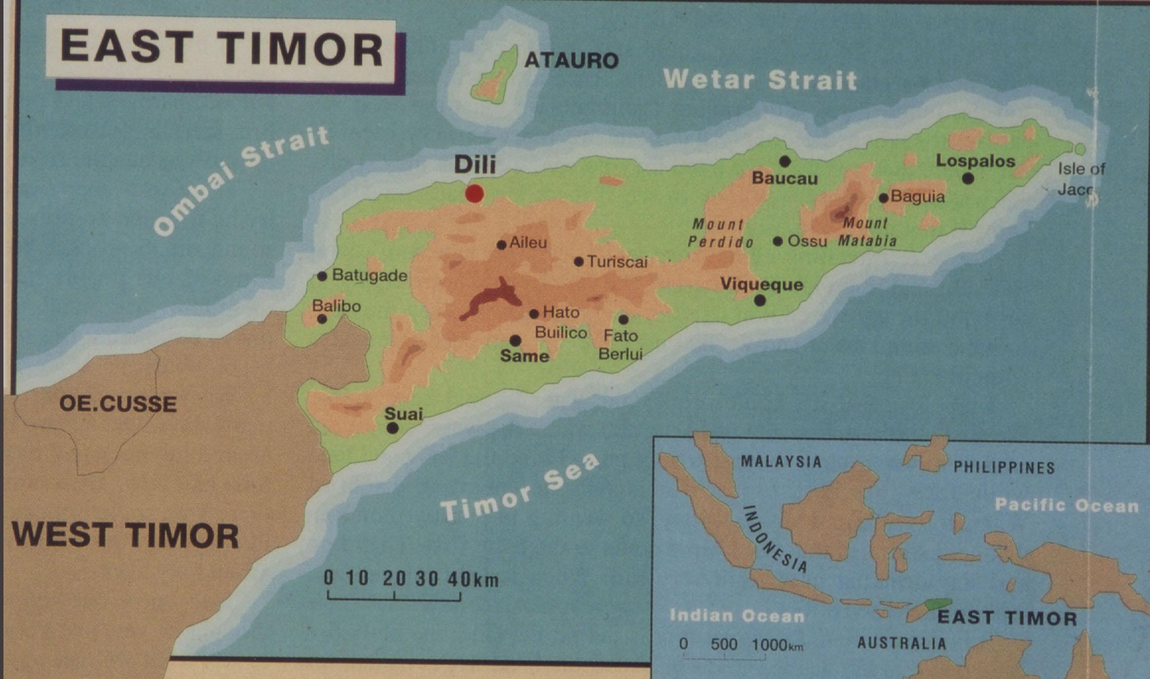 East Timor Maps